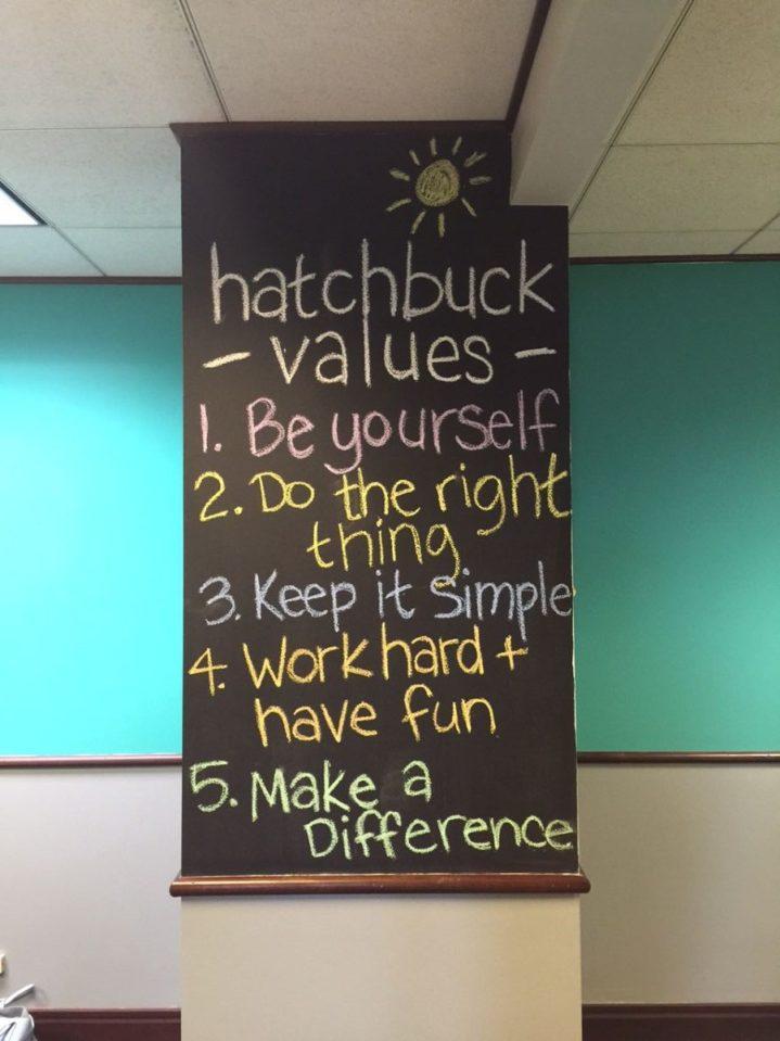 HatchbuckValuesWall.JPG