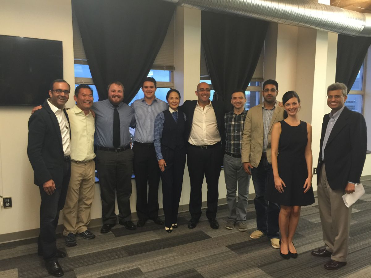 The Fall 2015 SixThirty cohort (not pictured, Suzanne Magee) included with SixThirty Program Manager Michelle Myers and Managing Partner Atul Kamra.