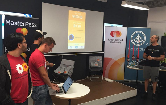 Winners of the Sydney, Australia Masters of Code event, Cointr. Photo courtesy of Masters of Code