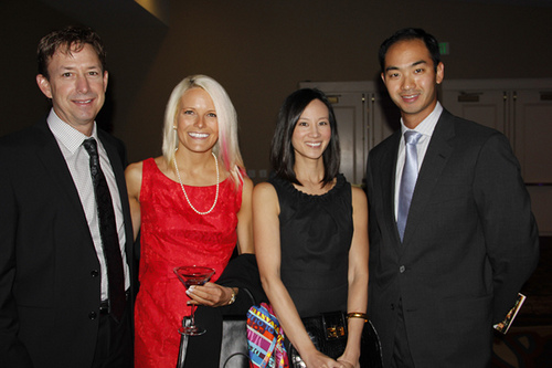 Doug Ackerman, Katie Trout, Tiya Lim & Chak Lattanand at Arch Grants Gala. Photo courtesy of Alive Magazine.