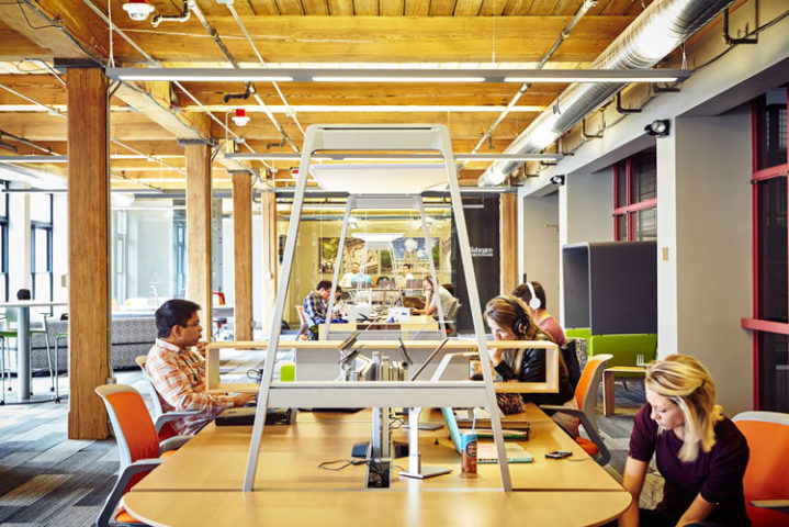 T-REX's fifth floor community space.