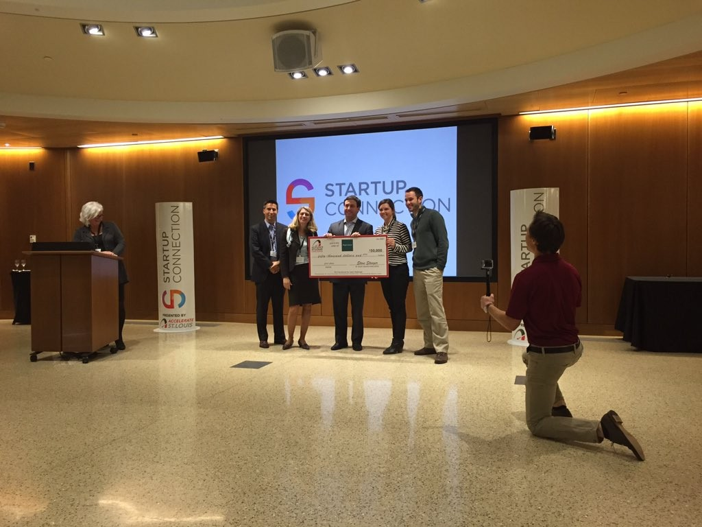 The first place $50,000 Accelerate St. Louis Challenge award went to MagBiosense