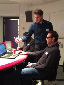 Lead Trainer Alex Pearson helps a student at a Savvy Coders Intro Session.