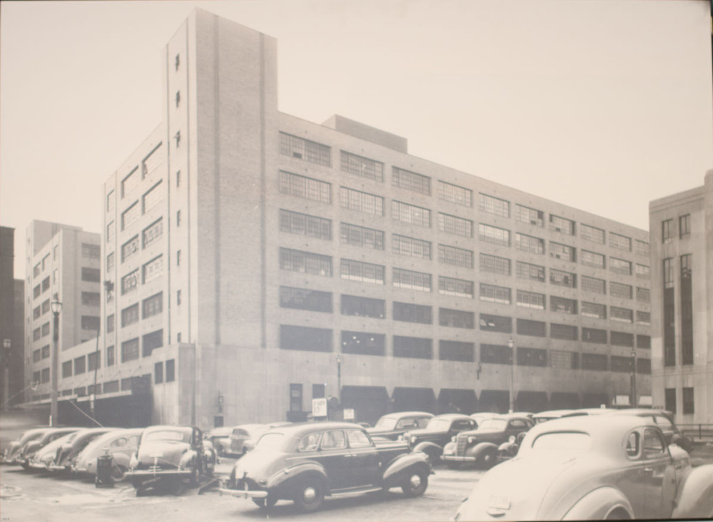 The Globe Building, which housed what is now known as the NGA, during the 1940s. During WWII, The Globe Building featured dark rooms and refrigerated rooms for developing film, as well as sleeping quarters for employees to rest during especially tense and long periods of work during the war. Photo courtesy of the Missouri Historical Society