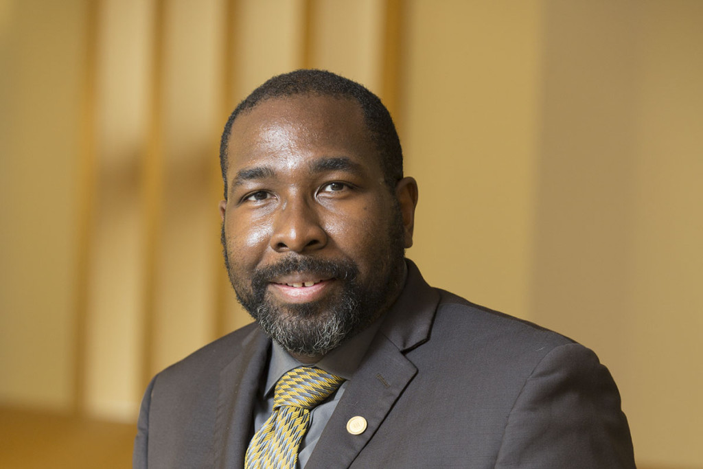 Dedric Carter, PhD is the associate provost and associate vice chancellor for innovation and entrepreneurship at Washington University in St. Louis. He was recently named vice chancellor for operations and technology transfer. Photo by Whitney Curtis/WUSTL Photos