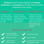 six thirty fintech accelerator application