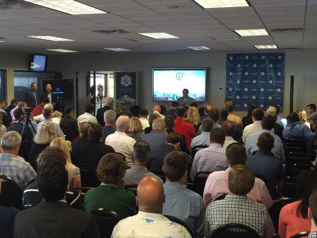Stadia's Tim Hayden makes opening remarks at the even. Photo courtesy of Dan Lohman.