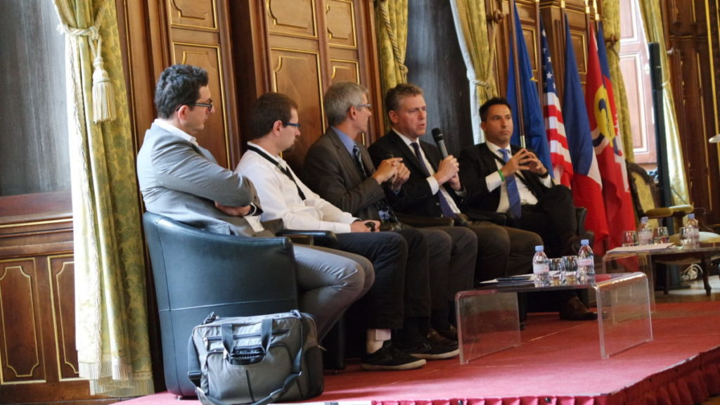Panel discussion at Lyon City Hall on BioTech