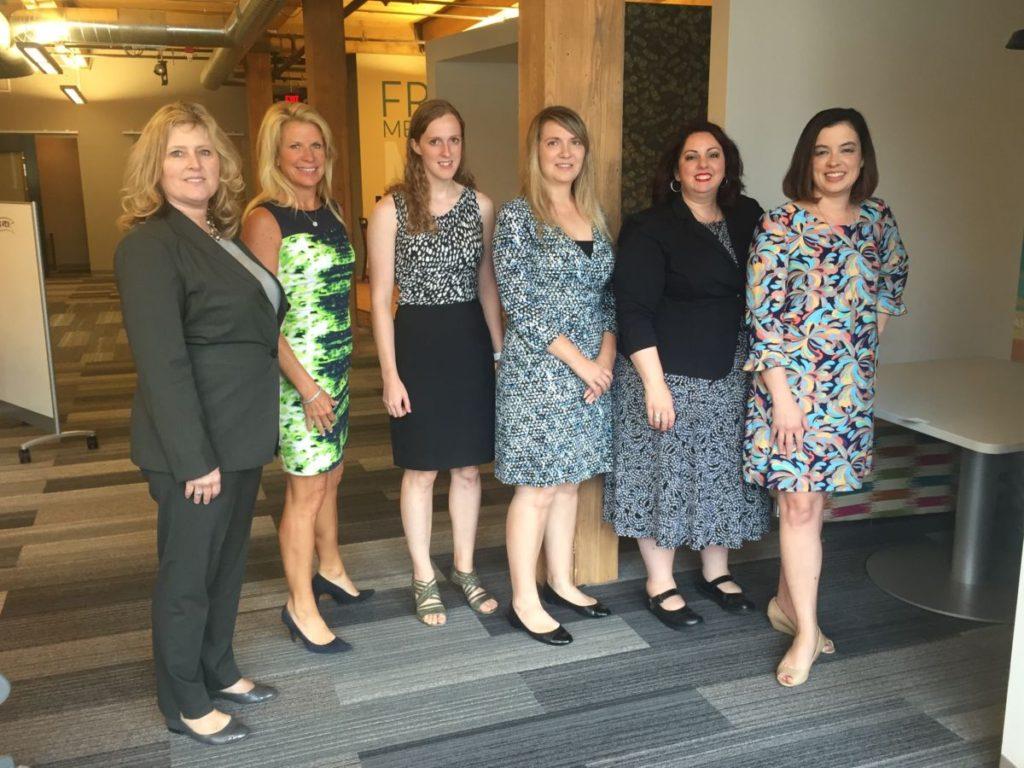 The Fall 2016 Prosper Women Entrepreneurs Startup Accelerator cohort from left to right: