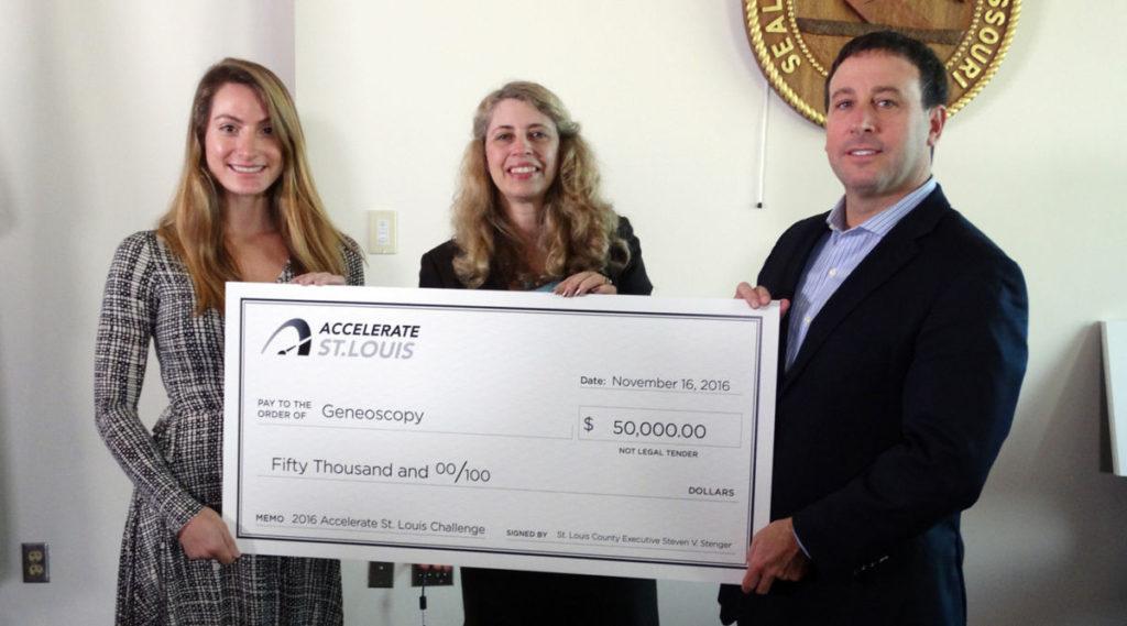 Geneoscopy won the $50,000 Accelerate St. Louis Challenge 2016.