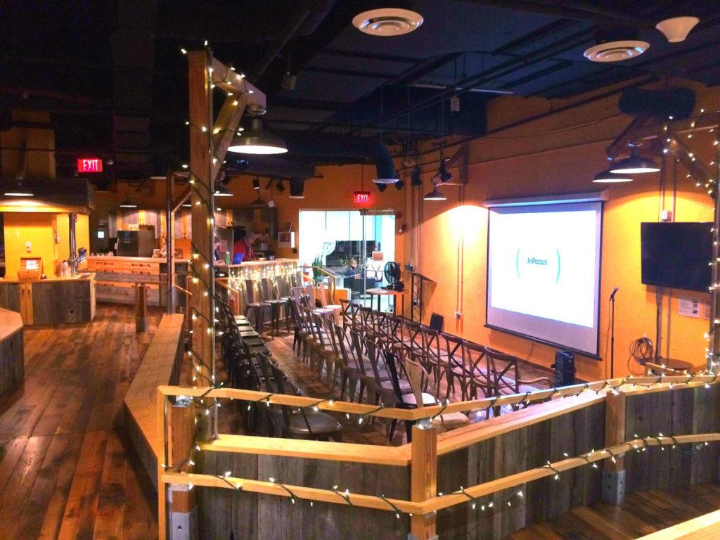Venture Cafe auditorium at CIC Miami.