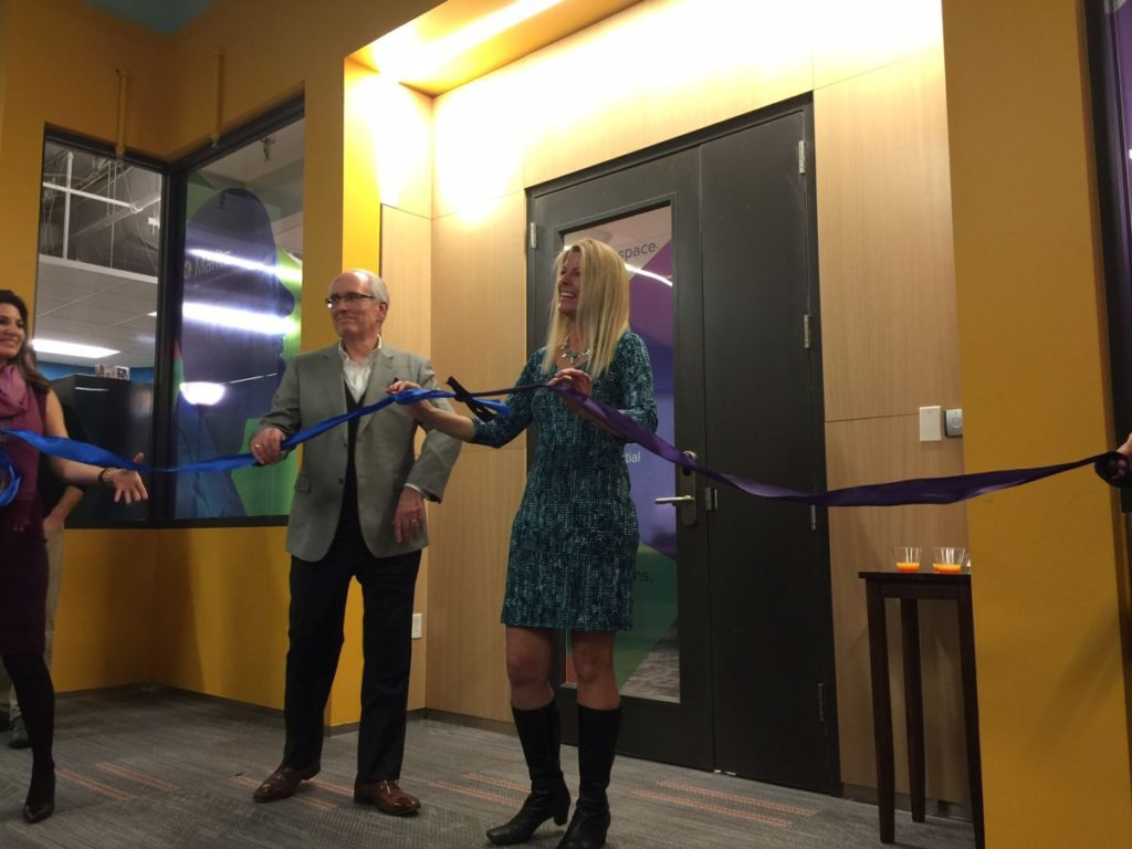 Maritz President Dennis Hummel with Capital Innovators CEO Judy Sindecuse