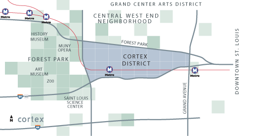 Cortex district map