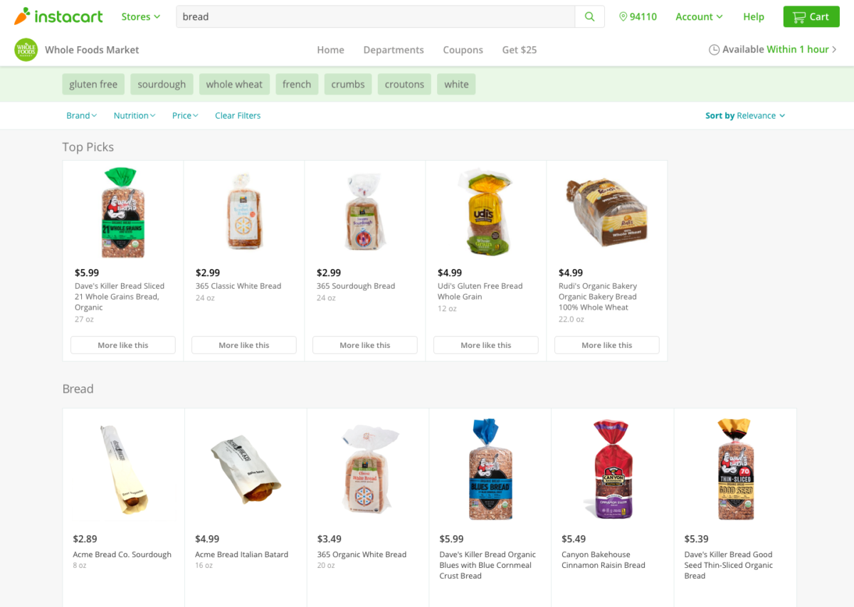 Instacart Launches One-Hour Grocery Delivery Service in St  Louis