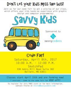 Savvy Kids Flyer