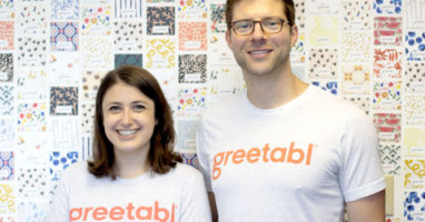 Greetabl founders Zoë Scharf and Joe Fischer