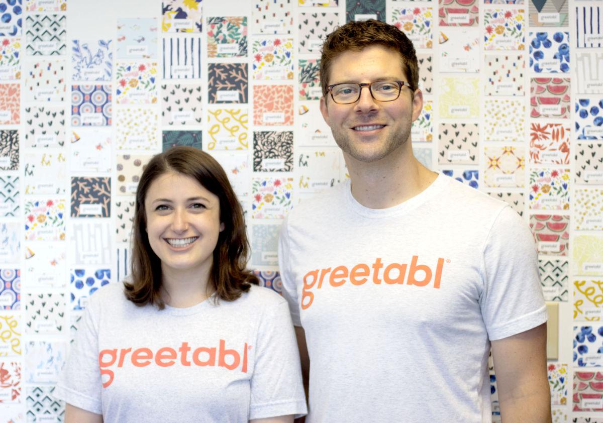 Greetabl founders Zoë Scharf and Joe Fischer