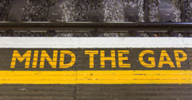 Mind The Gap (Royalty free image from Shutterstock)