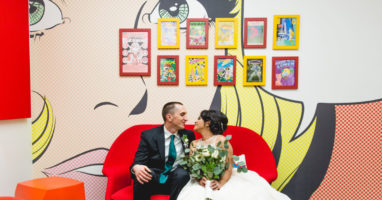 Ala Al Lozi and Michael Kehoe got married at Venture Cafe's Innovation Hall in December 2018.